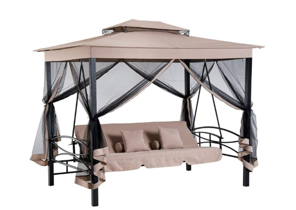 Outsunny 3 person outdoor patio swing