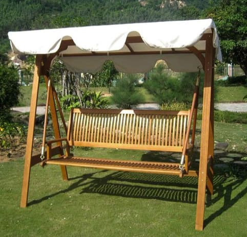International caravan Royal Tahiti 3 seat patio swing