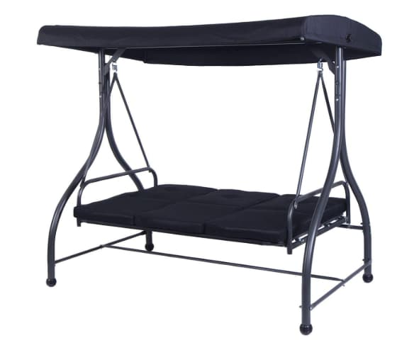 Tangkula converting outdoor three seat patio swing