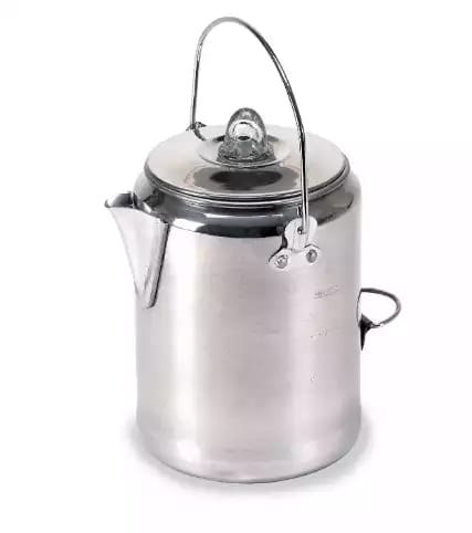 Stansport aluminum percolator coffee pot, 9 cups kettle