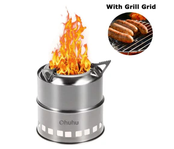 Ohuhu stainless steel backpacking portable camping stove