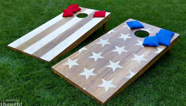 Camping Cornhole Table