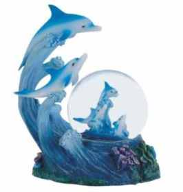 George S. Chen Imports dolphin snow globe