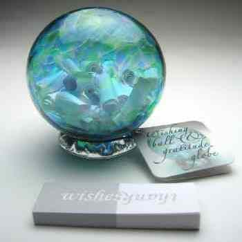 Handblown Wishing and gratitude globe