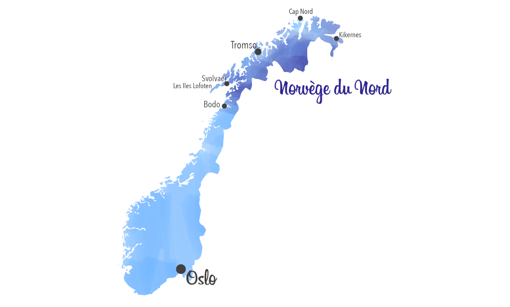 carte norvege du nord