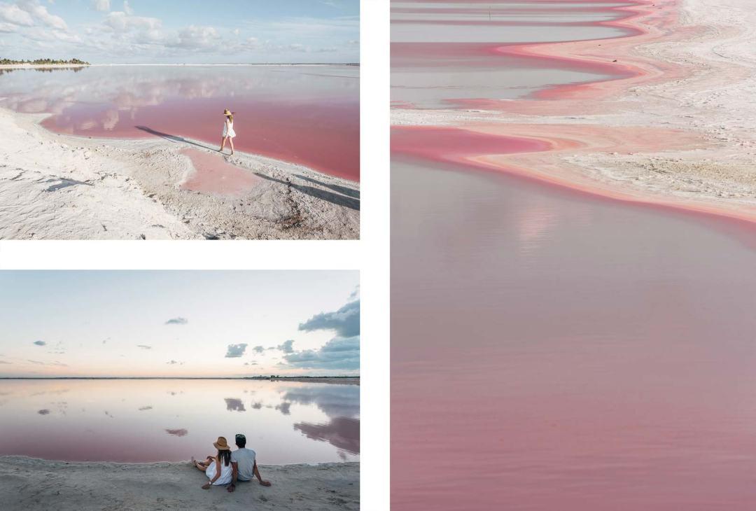 Las Coloradas, Les plages roses du Yucatan, Mexique