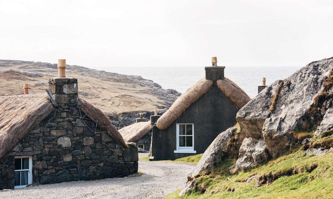petit village ecossais traditionnel lewis