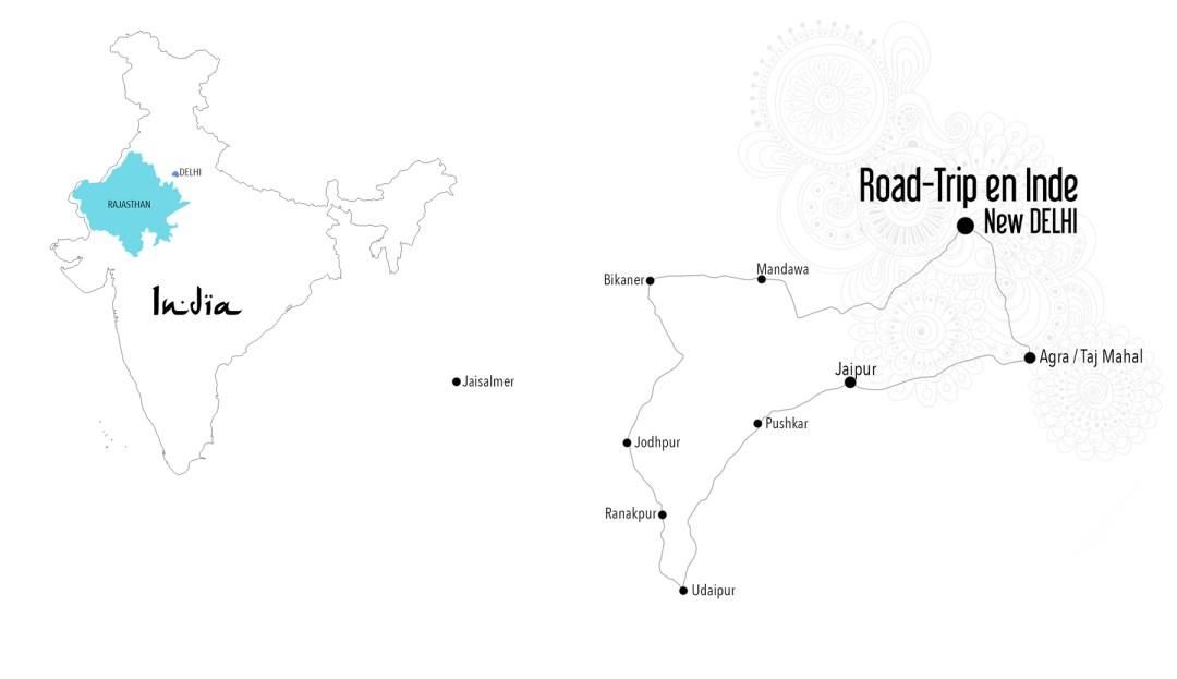 itinéraire rajastan inde du nord