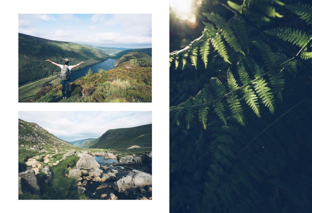 Rando Glendalough, white track, Wicklow Mountains