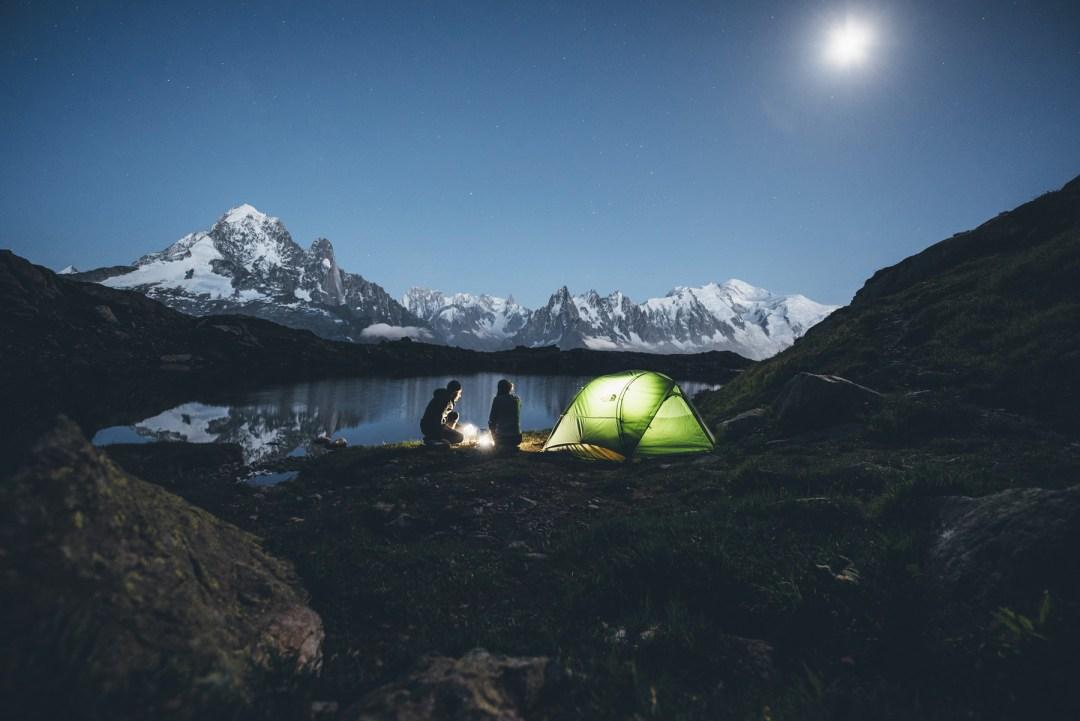 Tente The North Face, Lac de Cheserys