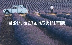 FRANCE   UN WEEK-END EN PROVENCE EN 2CV AU PAYS DE LA LAVANDE