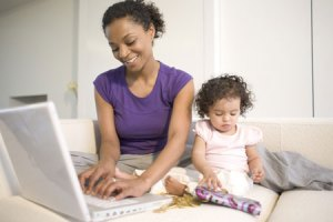 Best Jobs for Moms: Mom Working At Home