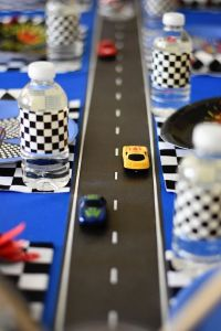 race tafel decoratie