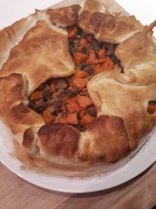 ovenschotel wortel bladerdeeg