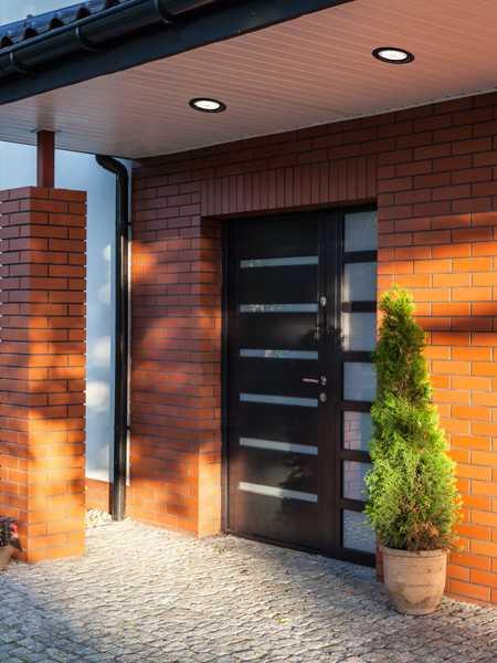 bazz 410 series 11w led recessed exterior soffit light black 410l11b