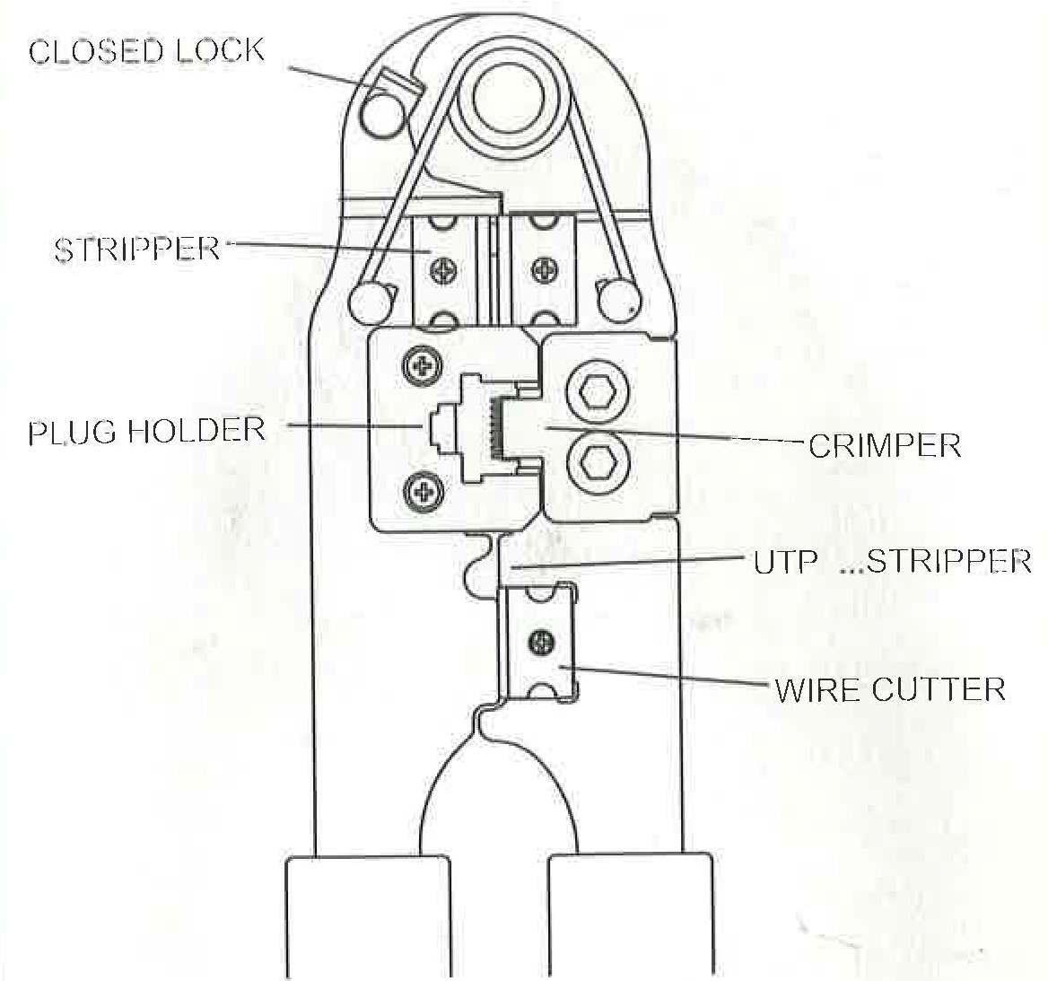 6P6C (RJ12), 6P4C (RJ11) Modular Plug Crimp Tool
