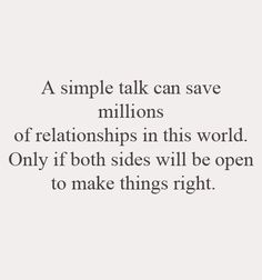 A Simple Talk Can Save Millions Of Relationships In This World