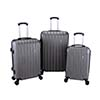 BEST TRAVEL ABS Trolley Luggage Travel Set Bag Suitcase Black 16 20 24 28