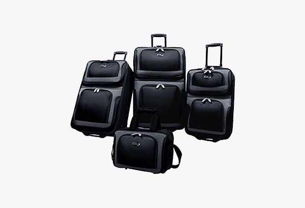 U.S. Traveler New Yorker 4 Piece Luggage Set Expandable
