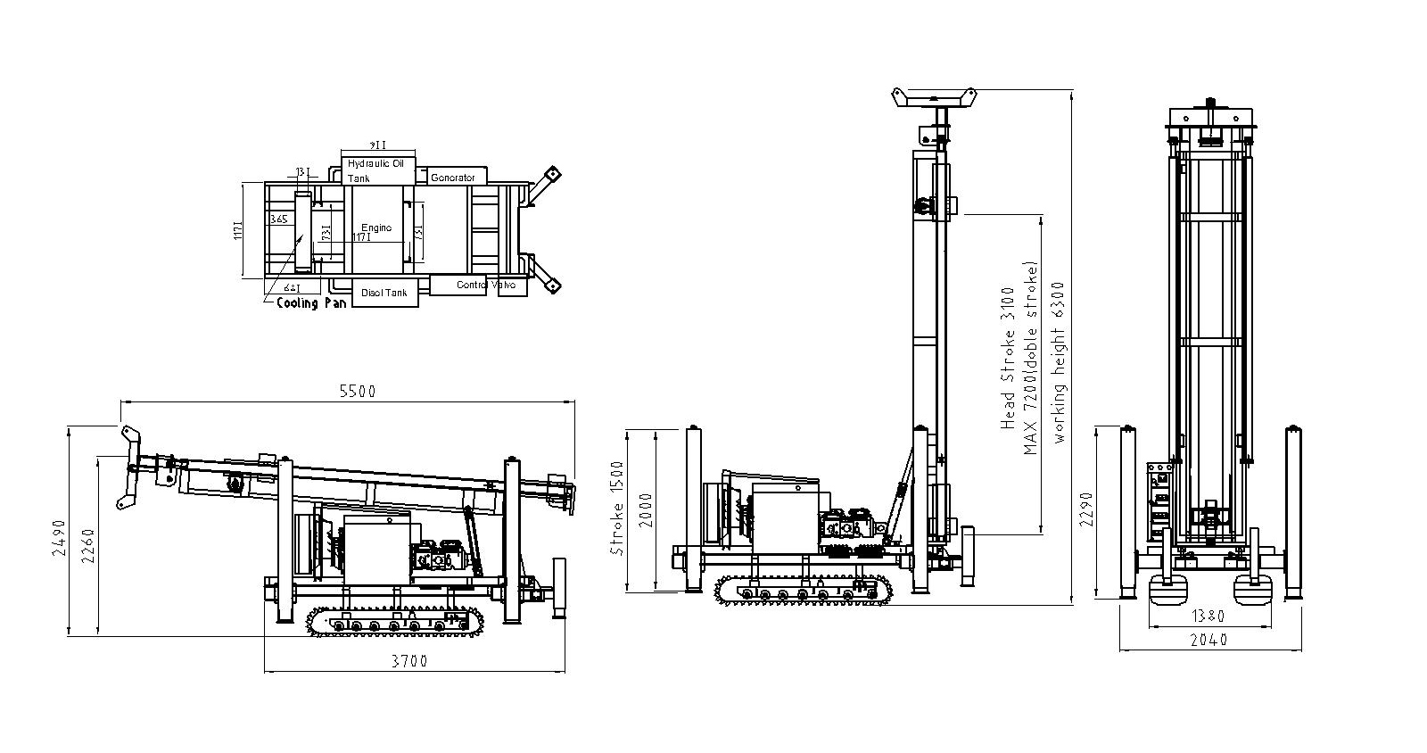 Water Well Drilling Rigs Yj 600 Manufacturers Water Well