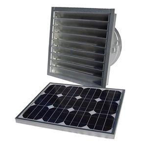 solar attic fan gable vent remote mount 25w w therm galv