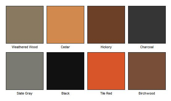 Tpo Chart Roofing Color
