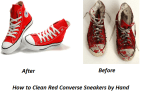 How to Clean Red Converse Sneakers by Hand