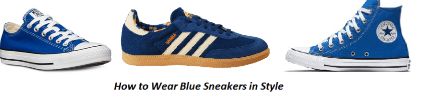 How to Wear Blue Sneakers in Style