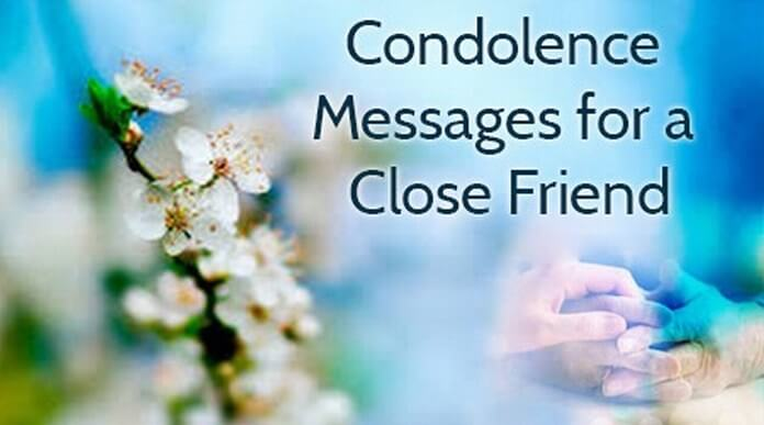 condolence messages for a