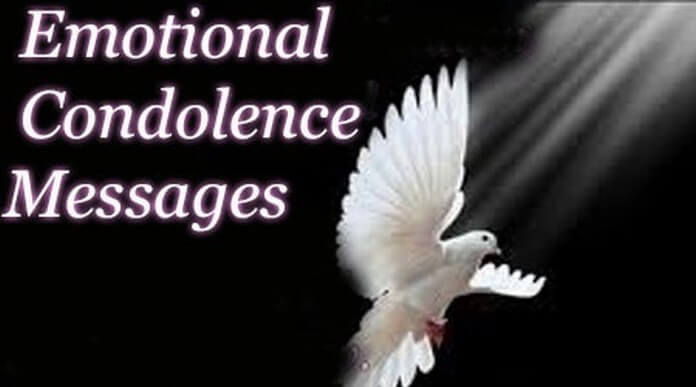 emotional condolence messages emotional