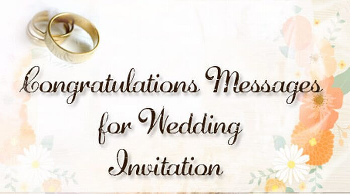 congratulations messages for wedding