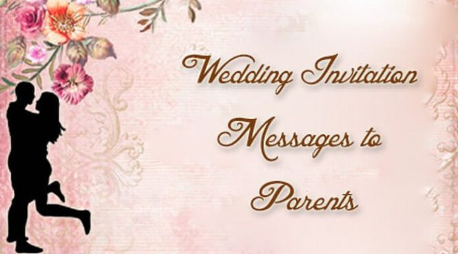 Wedding Invitation Messages To Pas