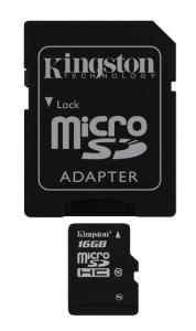 Kingston Digital 16 GB micro SDHC card