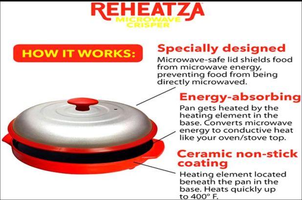 Reheatza microwave crisper works