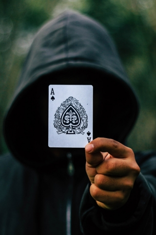 5 Inch Screen Hd Wallpapers Black Ace Card Download Mobile Wallpaper