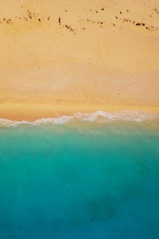 Fall Coastal Desktop Wallpaper Bird Eye View Beach Download Mobile Wallpaper