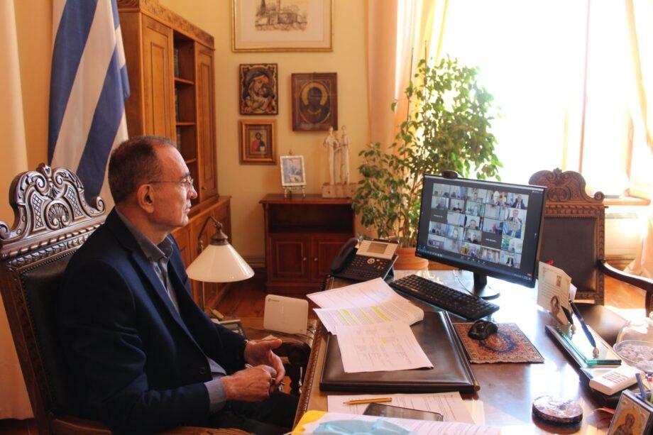 Τηλεδιάσκεψη Δήμαρχου Σύρου – Ερμούπολης με τον Πρωθυπουργό