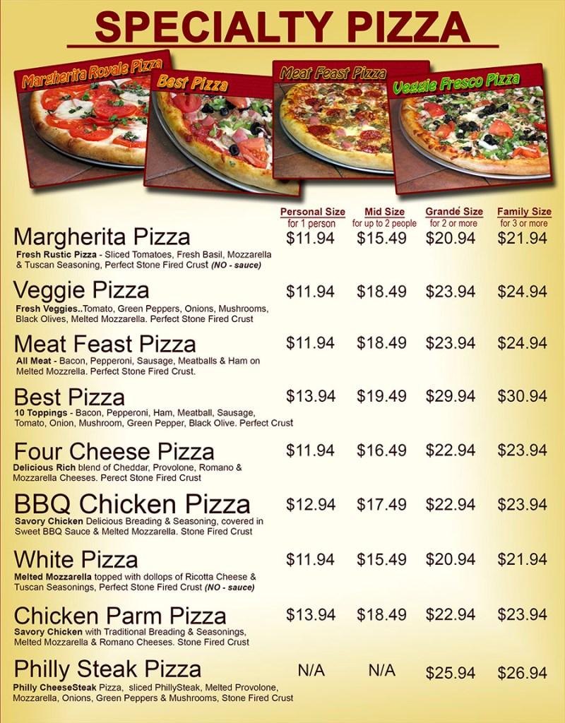 Supreme Ty Pizza Menu Ny Pizza Menu Pizza Guys Menu Rocklin Ca Pizza