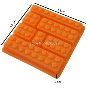 Cake Decorating Mold Blocks Shaped 7 Bricks Ice Cream Tools