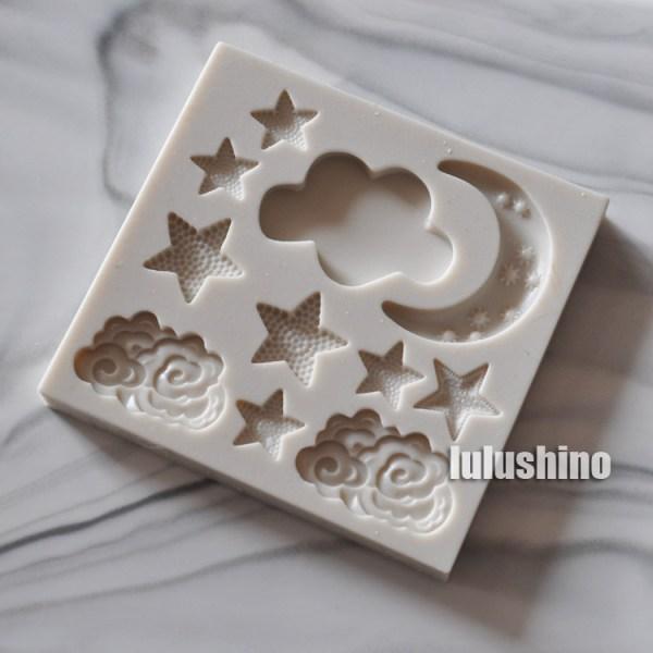 Cloud Star Moon cake decorating tools chocolate