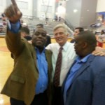 Mike Beebe, Todd Day & Ron Brewer at the inaugural Mike Conley, Jr. All-Star Classic