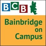 Logo for podcast show Bainbridge Island On Campus