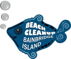 Beach cleanup logo
