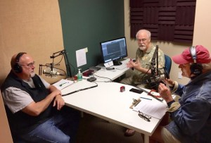 T&C's Joe Pulicicchio with BCB tech Chris Walker and BCB host Bob Ross