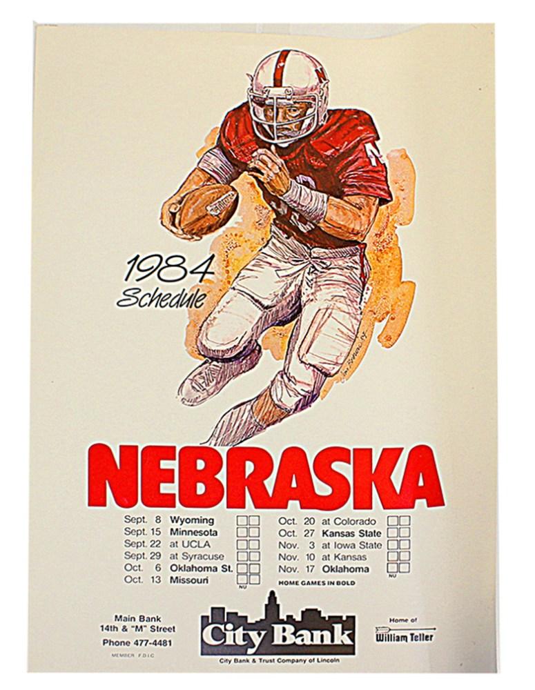 2012 Husker Schedule Poster