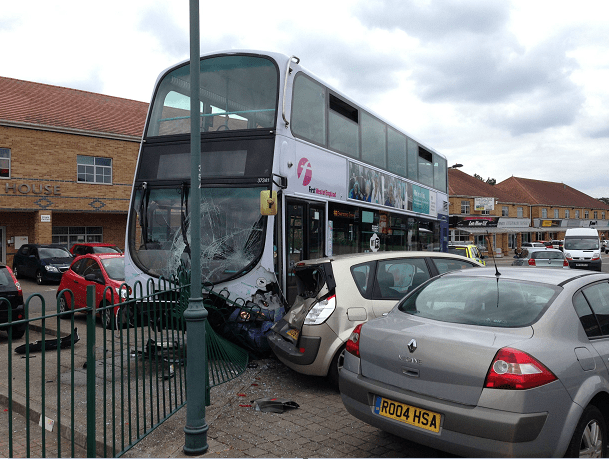 First bus Crash