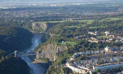 view from balloon over bristol