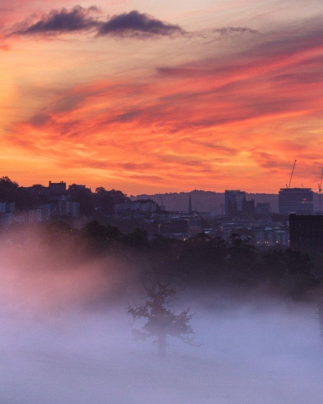bristol red sun rise