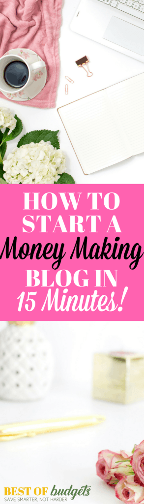 How to Select a Niche and Start a Money Making Blog in 15 Minutes