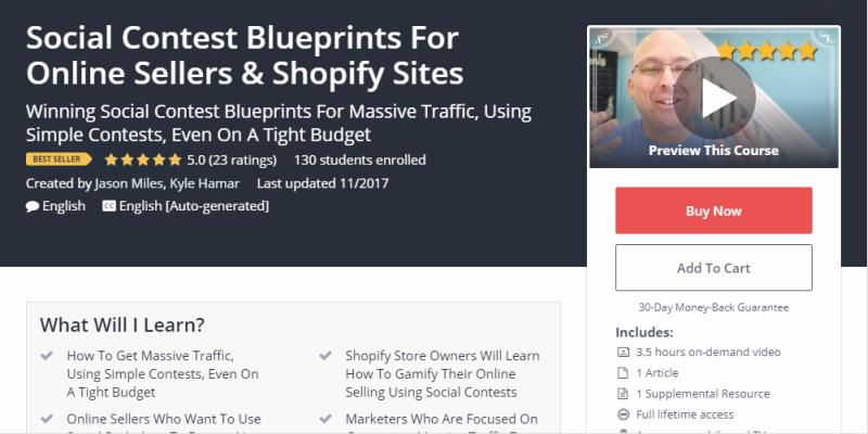 Social Contest Blueprints For Online Sellers & Shopify Sites Review